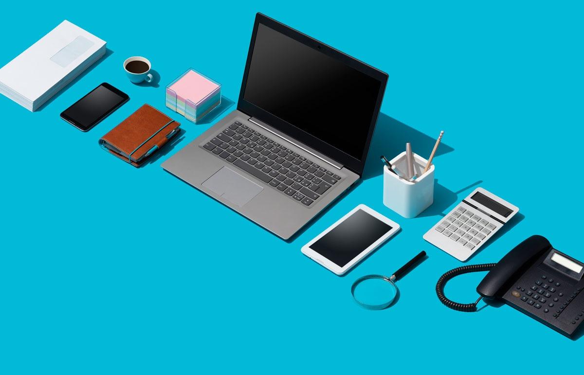 Comment sont assurés l'ordinateur portable et les autres objets de travail ?